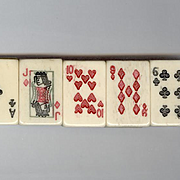 Novelty Carved Bone Playing Cards Bracelet
