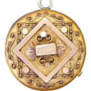 Ornate Gold Filled ETRUSCAN Style VICTORIAN Locket