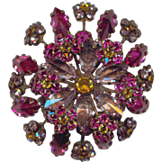 Flashy SCHREINER NEW YORK Layered Rhinestone Pin