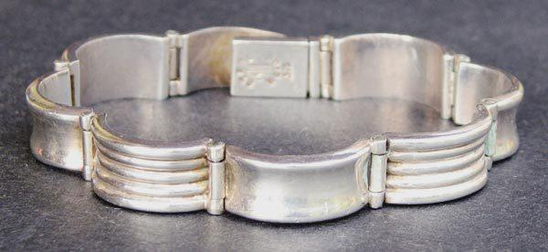 Signed Weiss Mid-Century Modernist Sterling Silver Bracelet