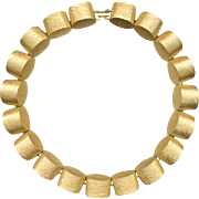 Trifari Chunky Gold Tone Links Necklace
