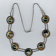 Victorian Operculum Shell Cat's-Eye Necklace
