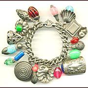 Spectacular 1950's NAPIER Charm Bracelet