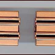 Signed Renoir Modernist Copper Cufflinks