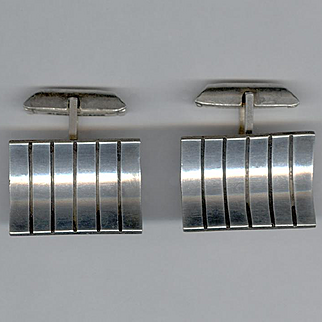 "Cool Modernist Sterling Silver Cufflinks Signed ""byron"""