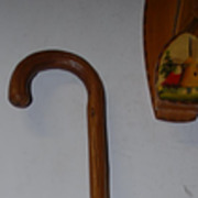Antique Strong Branch Wood Walking Stick Cane
