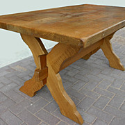 Antique Solid Wooden Rustic Mission Style Table