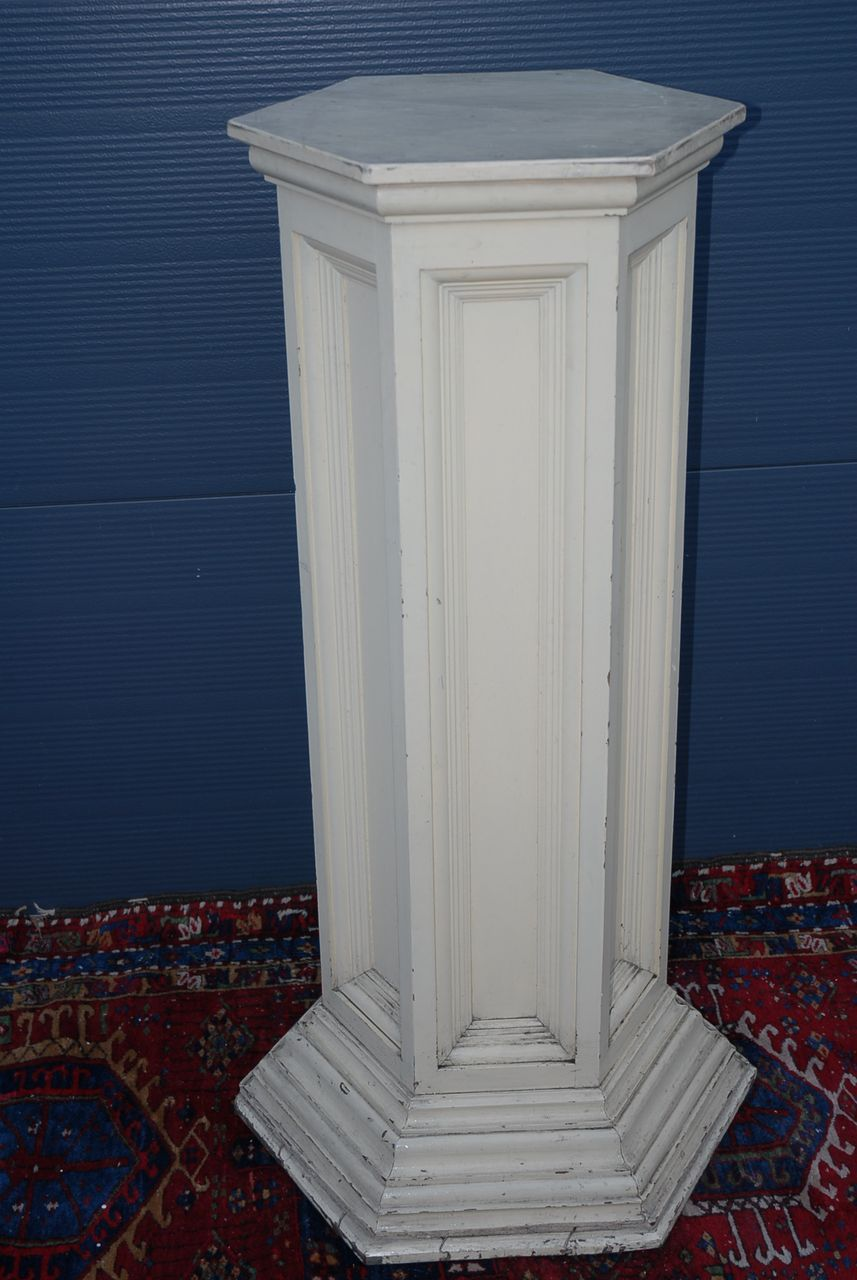Huge 19th Century Wooden Column with original Paintwork