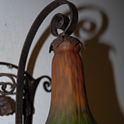Art Nouveau Hand Made Quality Wrought Iron Art 1- light Sconce