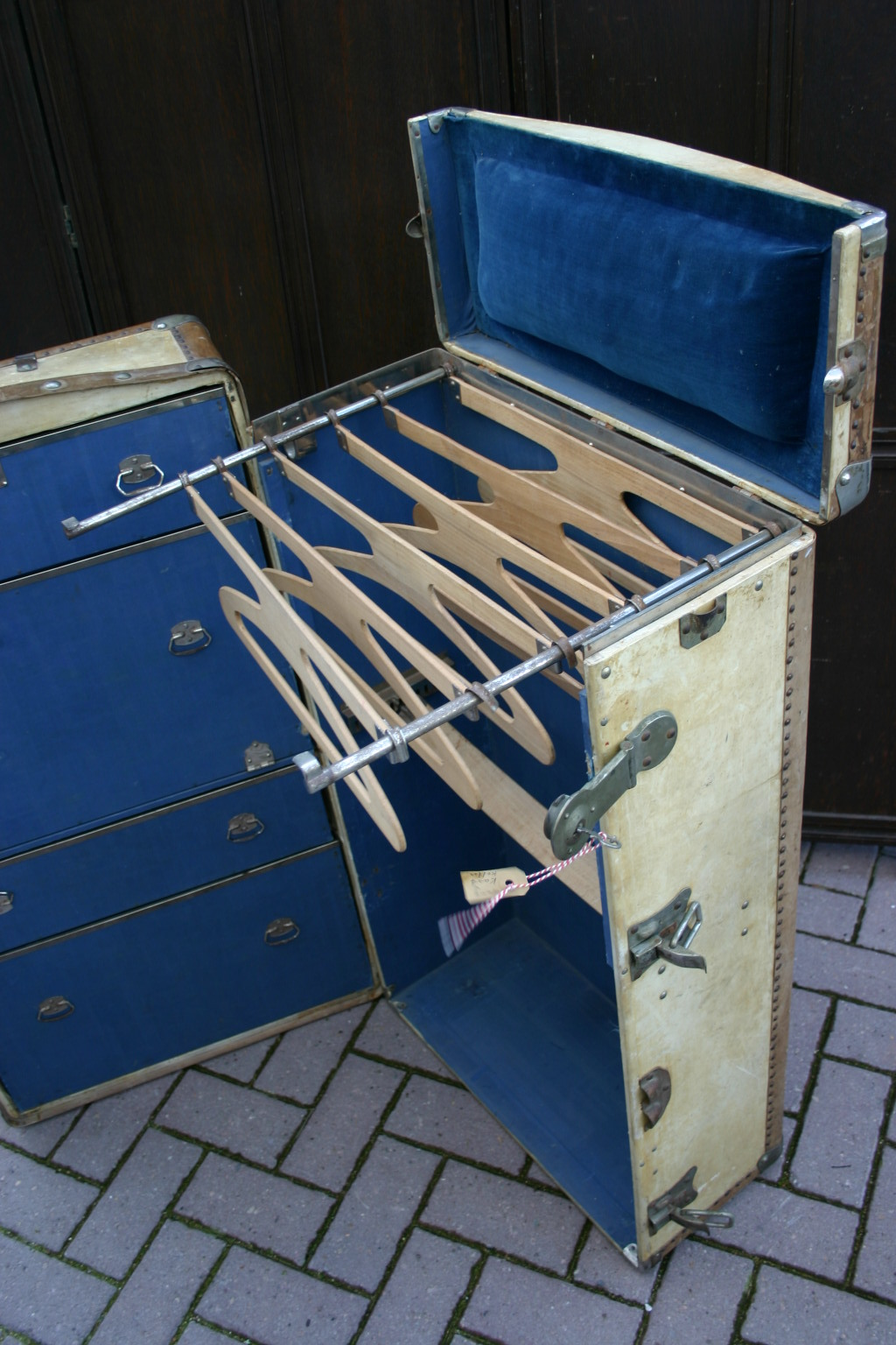 Antique Luggage Steamer Trunk Chest