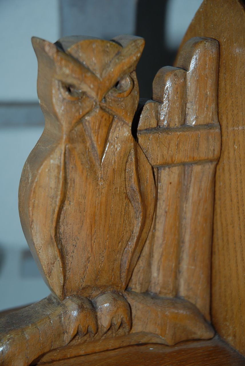 Antique solid hand carved wood gothic art style owl bookends from europeantiqueshop on ruby lane - Gothic bookends ...