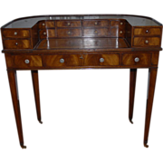 Antique English Shaped Mahogany Desk