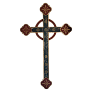 Rare Early  Wooden Wall Cross  Original Painted