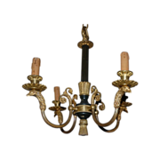 Gorgeous Vintage Fine Bronze Empire Style Eagle Head 4-light Chandelier