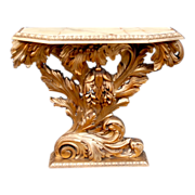 A fine Italian Quality Carved Wood Gold Painted  Wall Side Table