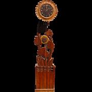 Rare Arts & Crafts Sun Flower Grandfather - Long Case Clock