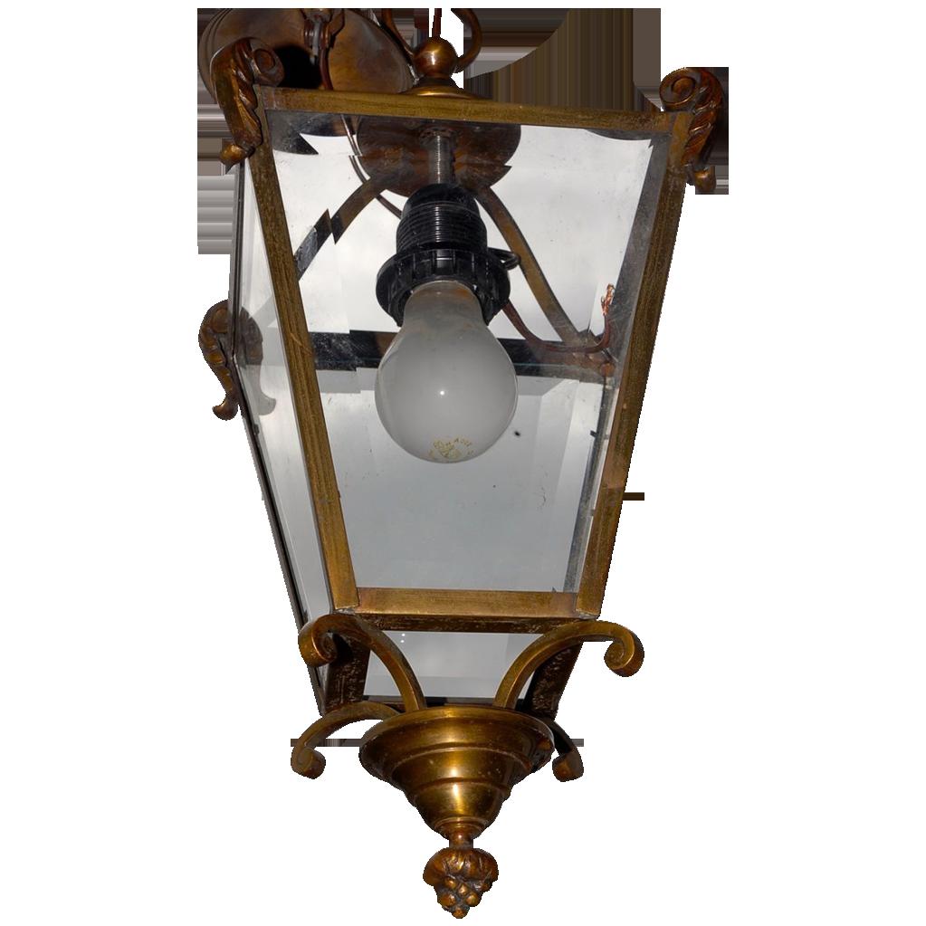 Vintage Bronze Hanging Lantern