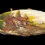Original Fine Oil Painting on Wood Landscape