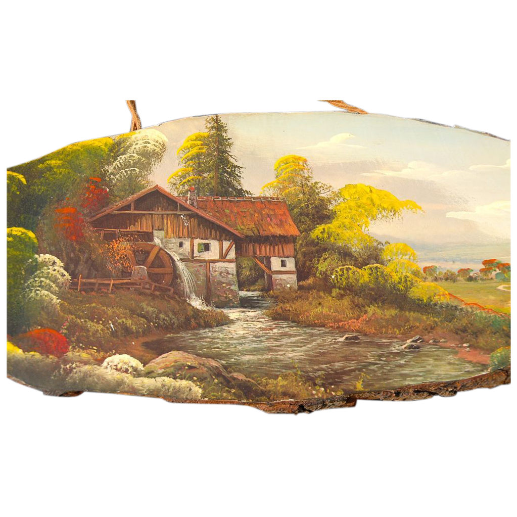 Original Fine Oil Painting on Wood Landscape