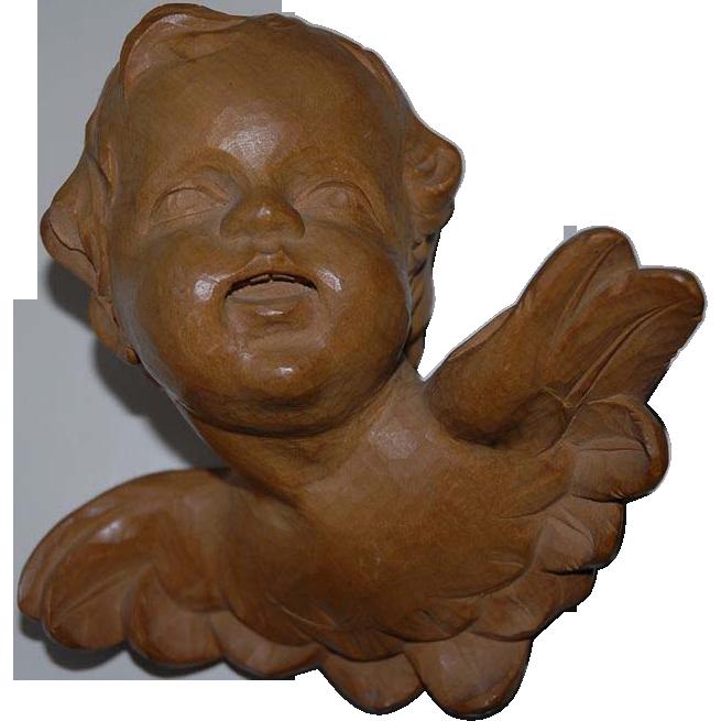 Glorious Cherub Putti Angel Carved Wood