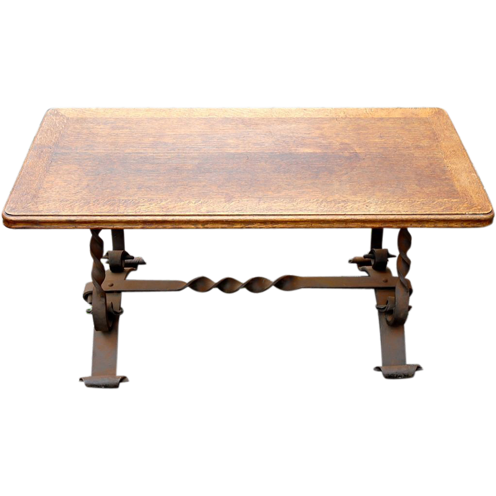 Coffee Table Vintage French Rustic Country Hand Made Coffee Table From Europeantiqueshop On Ruby