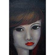 Modern Oil Painting Women Figure Portrait