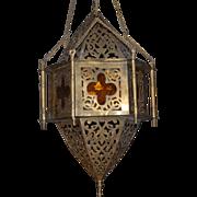 On hold for Lori -- Arabic Vintage Brass Hanging Lantern