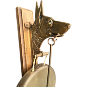 Shepherd Dog Brass Wall Mounted Dinner Gong