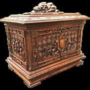 Masterpiece Carved Wood Black Forest Art era Victorian Liquor Tantalus