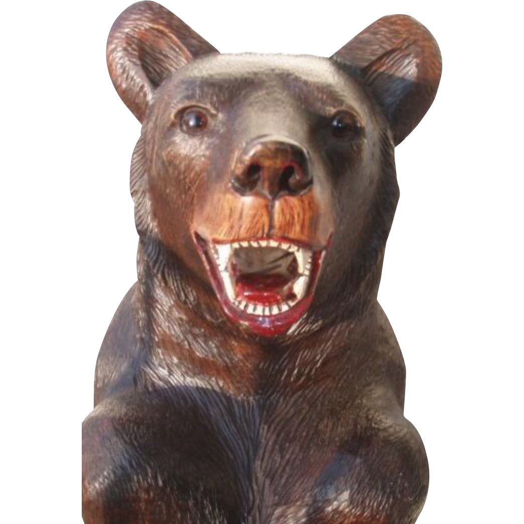Swiss Black Forest Bear Cane Umbrella Stand