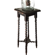 French Antique Barley Twist Table Lamp or Plant Stand