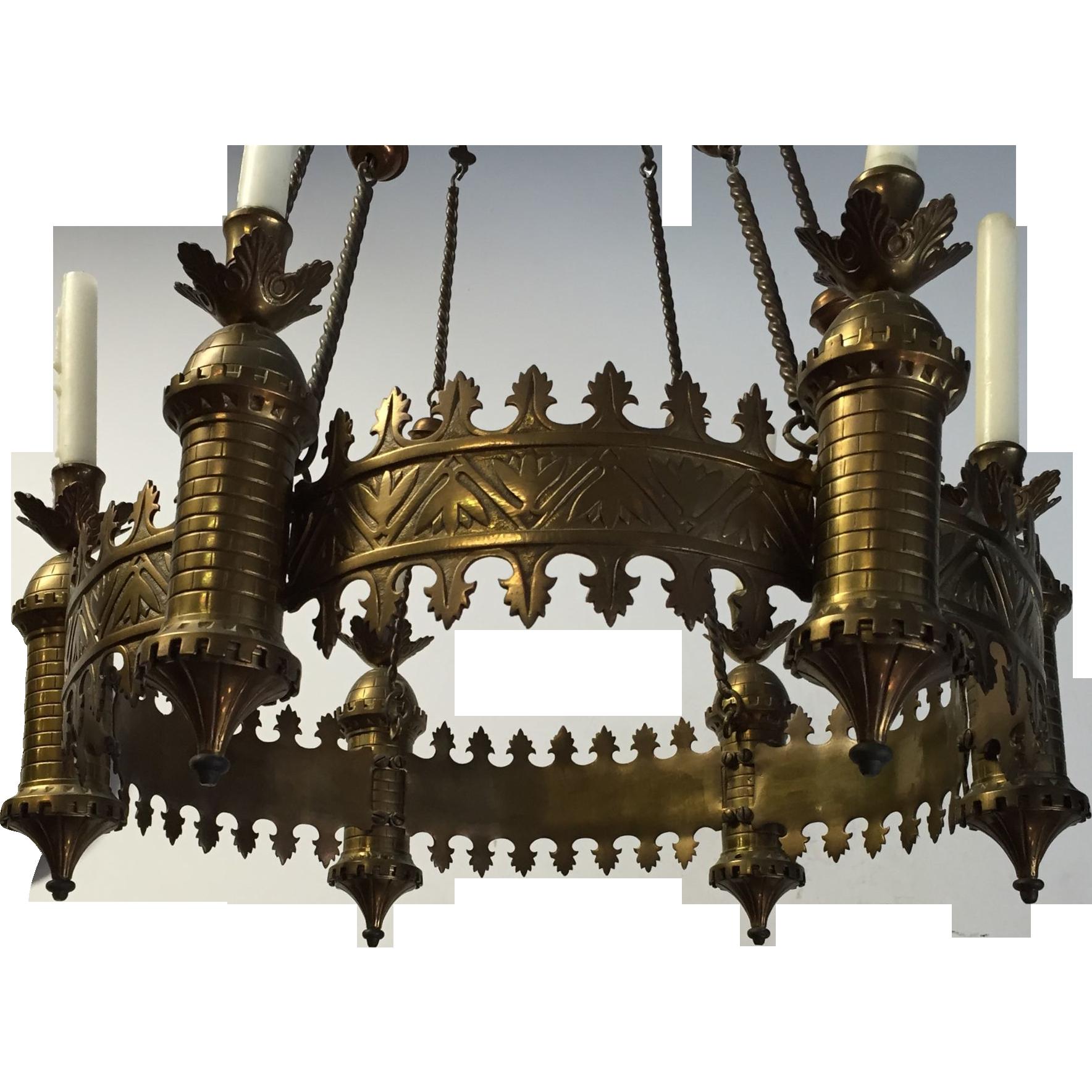 Bronze Neo Gothic Art Chapel Pendant