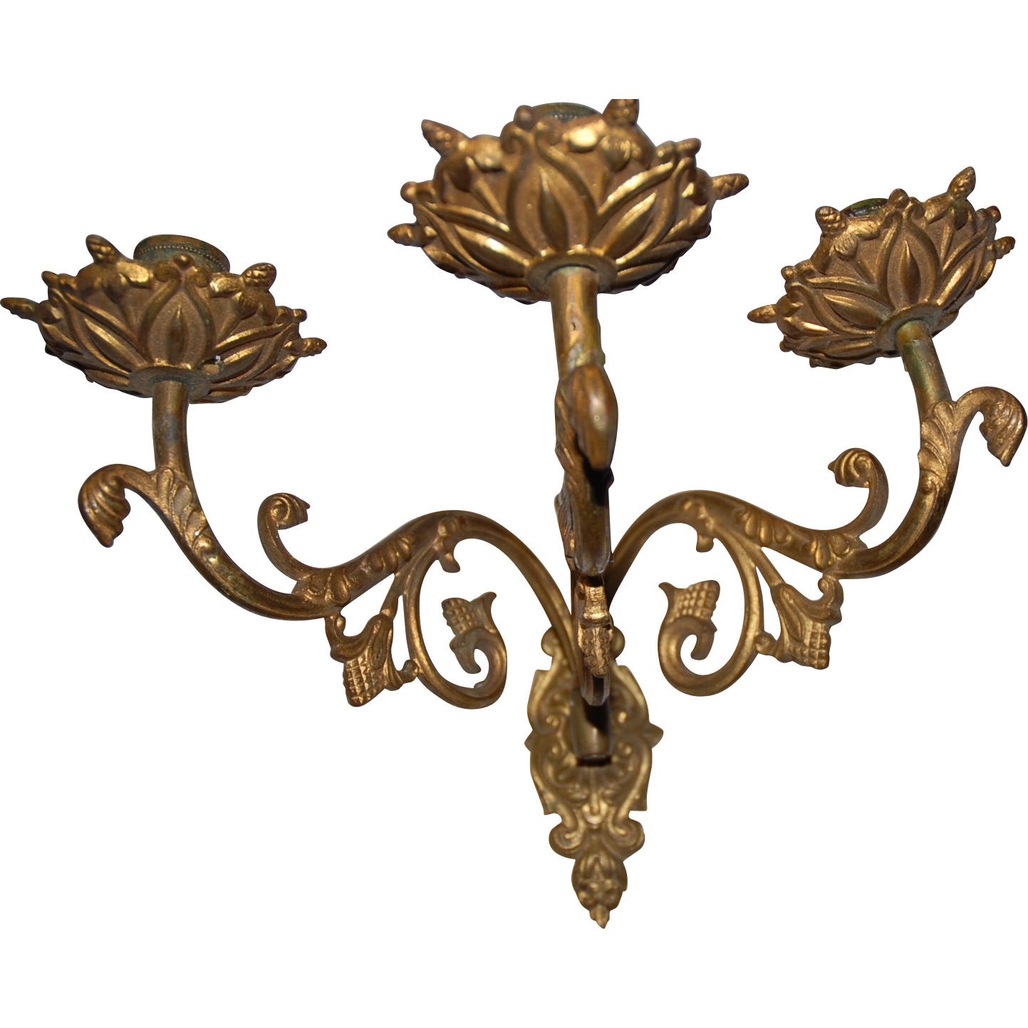 19th Century French Bronze Wall Sconce