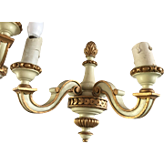 Pair of Antique Louis XVI Style Gilt-wood Light Wall Sconce Fixtures