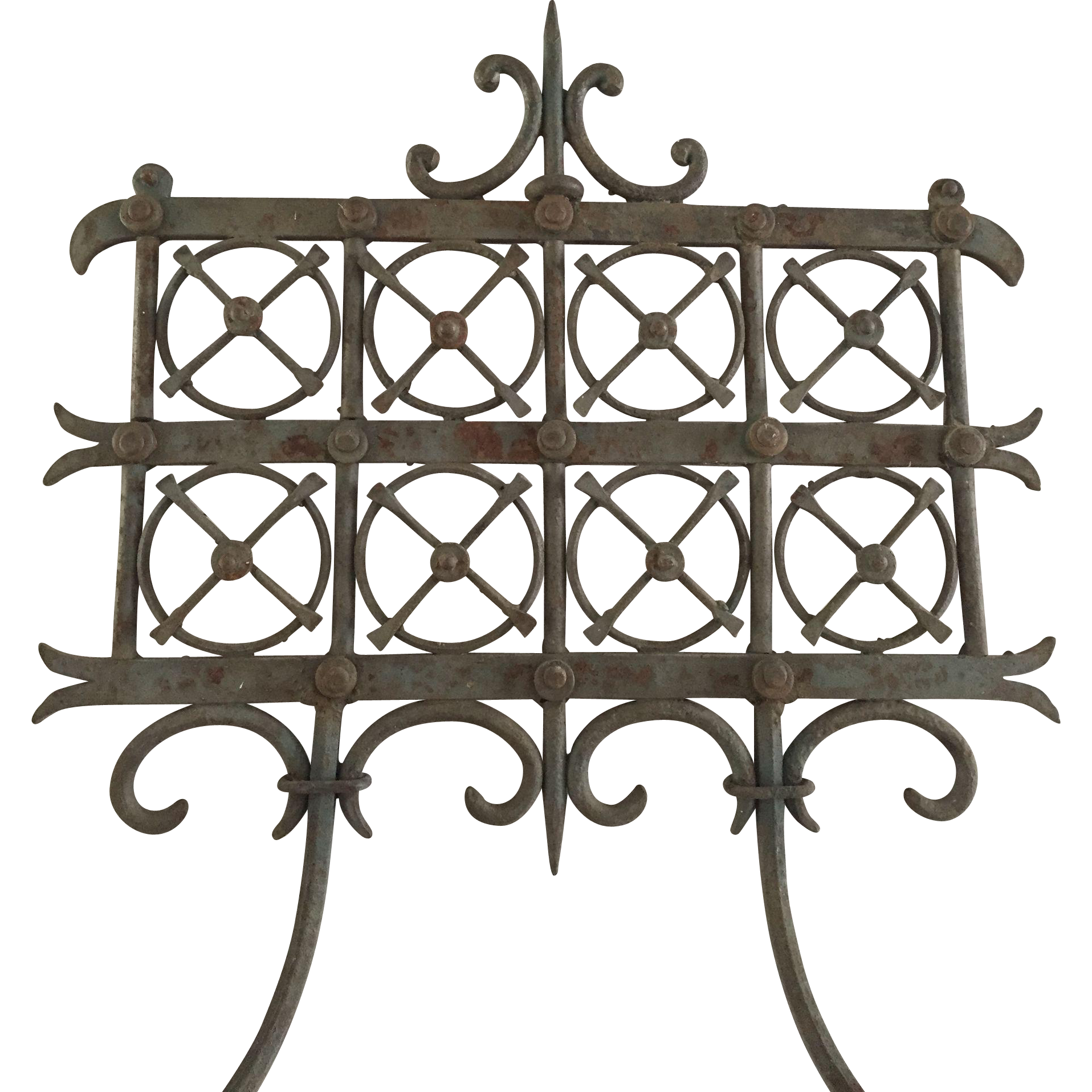 A Wrought iron 2-light Wall Sconce