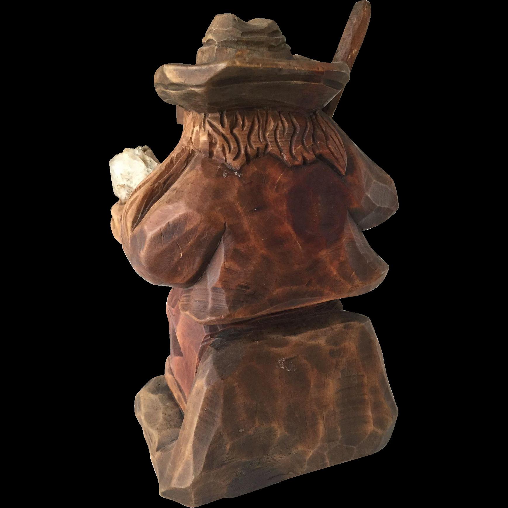 Vintage Black Forest Gnome - Troll sculpture