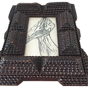 Antique Tramp Art Picture Frame