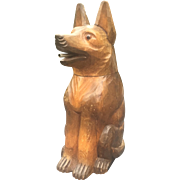 Black Forest Carved Sheep Dog Bottle Cover