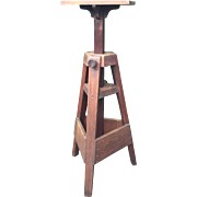 Sculptors Studio Work Easel Oak Wood Sculpture Stand - Column - Pillar
