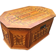 Beautiful Marquetry Inlaid Jewelry - Treasure Box
