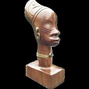 Sculpture of a Head of an African Women by Hagenauer