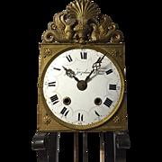 19th C.  France Comtoise Wall Clock