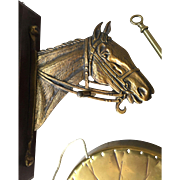 Sold to Lori -- Horse Bronze - Brass Wall Mounted Dinner Gong