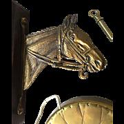 Horse Bronze - Brass Wall Mounted Dinner Gong