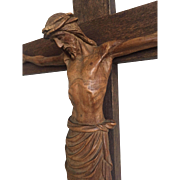 Wood Table Altar Crucifix - Jesus -Christ - Corpus Stand