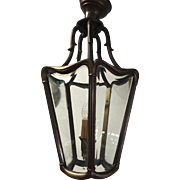Vintage Bronze - Glass Entrance - Pendant Hanging Light Lantern - Fixture