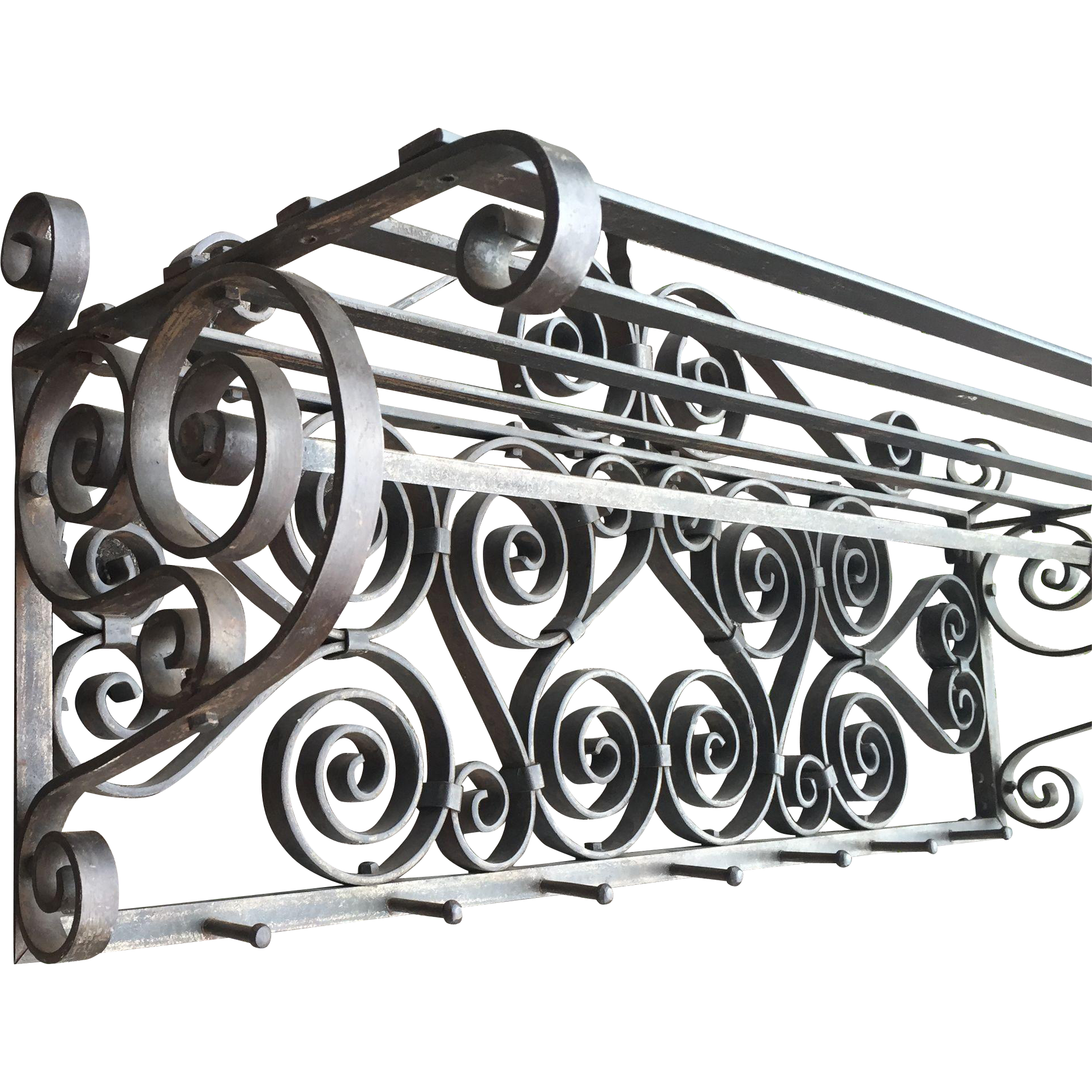 Wrought Iron Artwork Wall Art Nouveau Quality Scrolled Wrought Iron Art Wall Coat Rack From