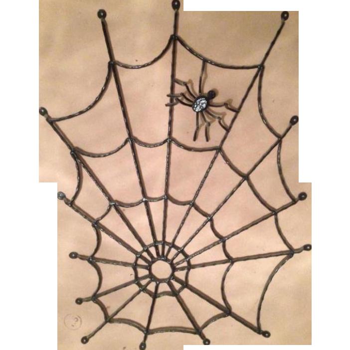 Iron spider web with spider window - door fence
