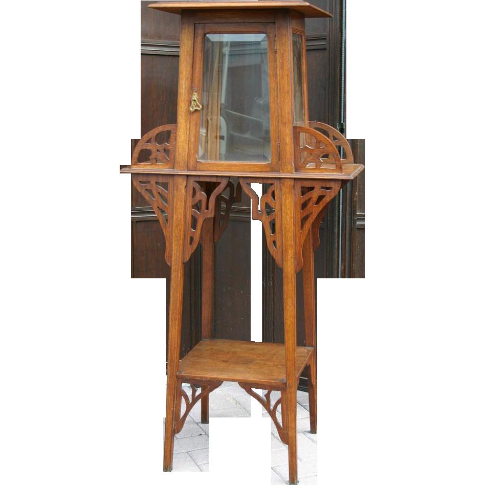 Art Nouveau era Arts & Crafts Showcase - Display Sculpture - Plant Stand
