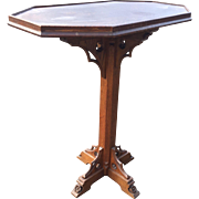 Wooden Gothic Art Table - Stand